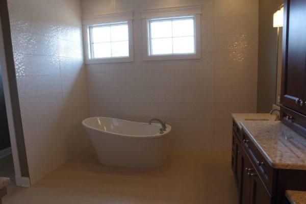 Modern Bathroom Cedar lake Indiana custom home