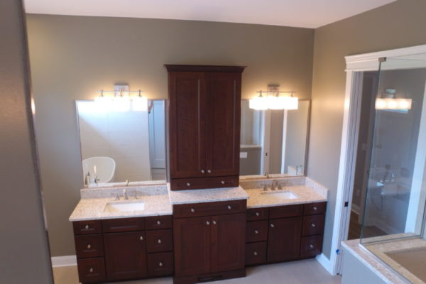 Modern Bathroom Cedar lake Indiana custom home